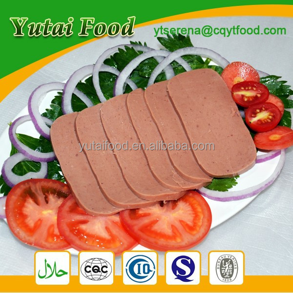 Delicious Halal Food Beef Luncheon Meat
