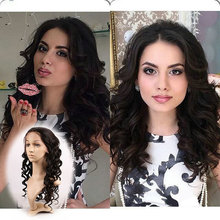 Wholesle Brazilian remy human hair Natural Black loose wave with baby hair full lace wig no shedding