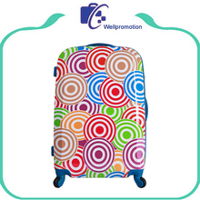 ABS PC Travel luggage bag/Trolley printed hard shell suitcase case