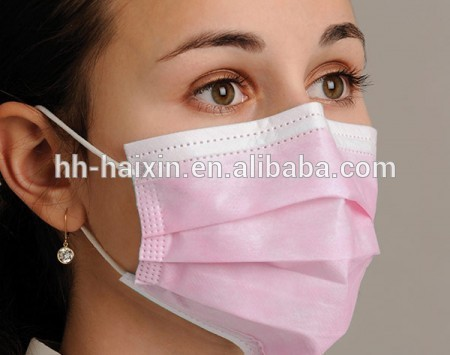 Disposable 3-ply PP Nonwoven Face Mask With Earloop