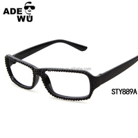 Hot sell stock cheap designer optical frame no lens with crystal