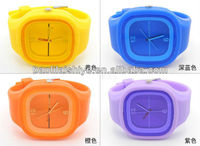 Many kinds of hot sale silicon jelly watches free samples advertisement watch blank watch