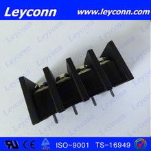 Pitch 6.35mm 4way barrier type black color terminal block connector