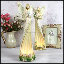 Fairy Tale Goddess Candleholder Resin Figures/OEM your design home decor resin figure/customized promotion resin figures factory