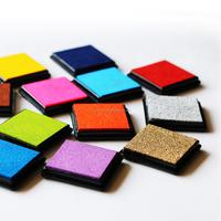 Kids DIY Craft Finger Ink Pad Stamps 20 Vibrant Nontoxic Colors