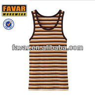 summer mens stripe cotton casual vest