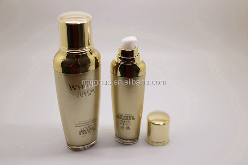 50-100ml Acrylic lotion bottles and 50g cosmetic jar set