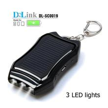 Portable Multifunction LED travel keychain smart waterproof panel solar charger for mobile phone