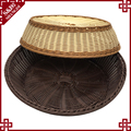 Oem 100% handmade woven rattan bread baskets for bakery food storage