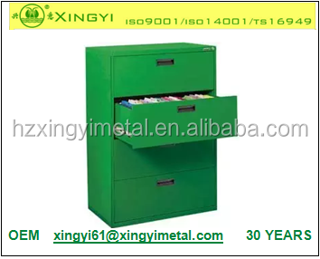 4 Drawer Lateral File Cabinet Metal Filing