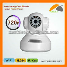 720P Megapixels IP Camera RJ45 IR Built-in Microphone