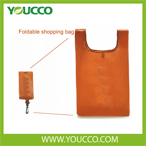 2016 polyester folding shopping grocery bag