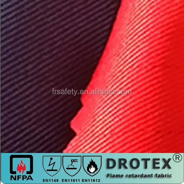302gsm to 345gsm protective 100% cotton fabric fire retardant /FR fabric with Anti-static safety workwear FRfabric