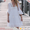 Women Maxi Dress With White Lace