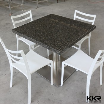 4 seaters acrylic solid surface dining table