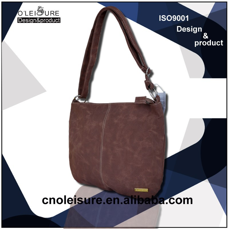 Suede leather shoulder man bag handbags women bags hot new products for 2015