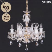 Blown Glass Bohemian Chandelier for Sale with 6 Light
