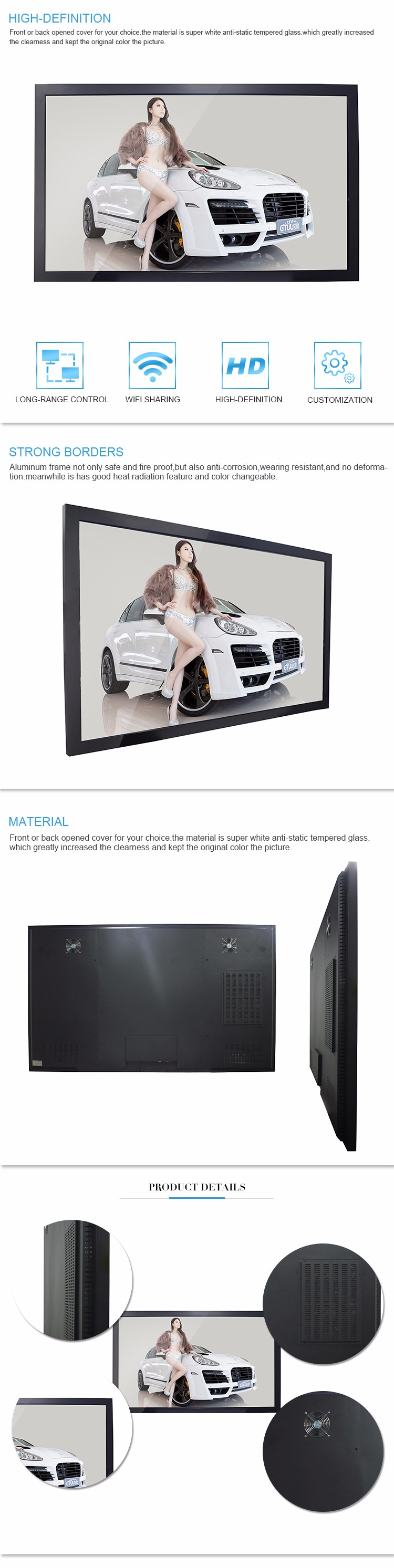 Network optional wall mounted android tablet touch screen for sale