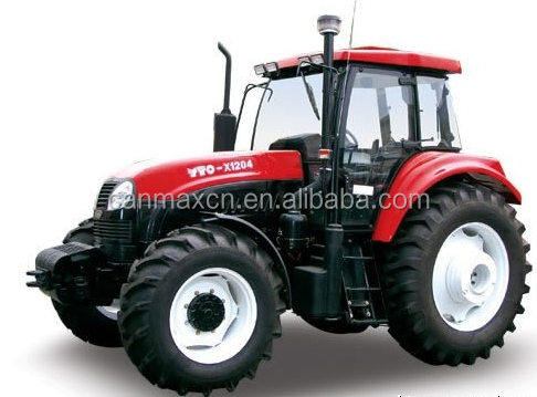 New YTO-X1254 Wheel Tractor 4 wheel drive China agricultural machinery hydraulic parts