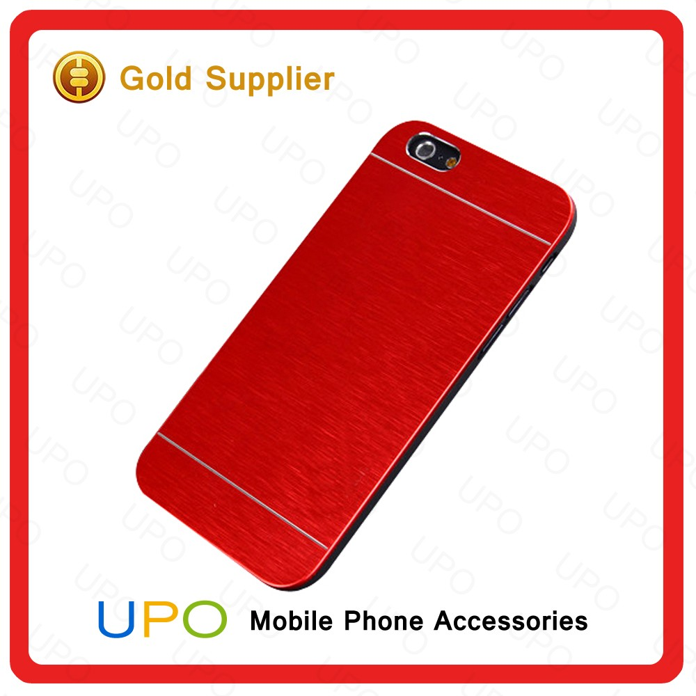 [UPO] Hot Luxury Aluminum Metal Brush Case for iphone 6 Phone Accessories Hard Back Cover for iphone 6