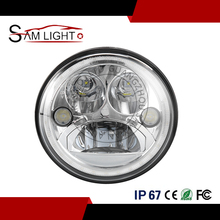 Jeep wrangler parts 55w 7 inch 12V 24V round led projector headlight for motorcycle