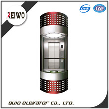 Safety Glass Observation Elevator Sightseeing Passenger Lift