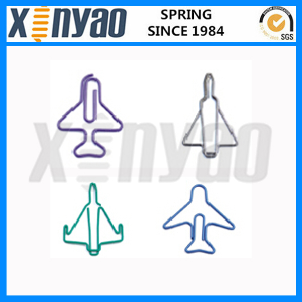 Promotional airplane shaped paper clips