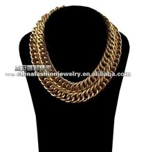 2012 Latest New Design Two Row Unique Chain Necklace