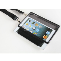 Genuine eather case for Ipad mini with shoulder belt elastic band mutifunctional back cover
