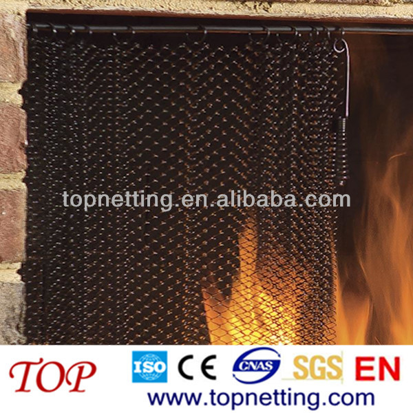 Chain Link Mesh Spark Screen/ Fireplace Curtain Mesh   Buy Fireplace Curtain  Mesh,Fireplace Screen Wire Mesh,Spark Curtain Product On Alibaba.com