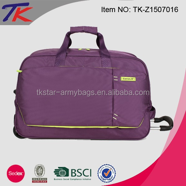 Custom Business Travel Bag Trolley waterproof duffel bagDuffel Bag with Wheels
