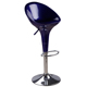 Hot sell ABS plastic and chromed base swivel bar stool chair