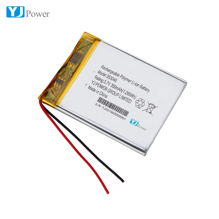 rechargeable battery cell polymer 353040 350mah for bluetooth earphone