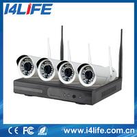 I4life 4ch NVR KIT 720P 1.0mp Wireless outdoor IP Camera P2P Home alarm video push CCTV Security Surveillance