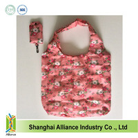Portable Sublimation Foldable Folding Reusable Shopping Bags with Full Color Printing