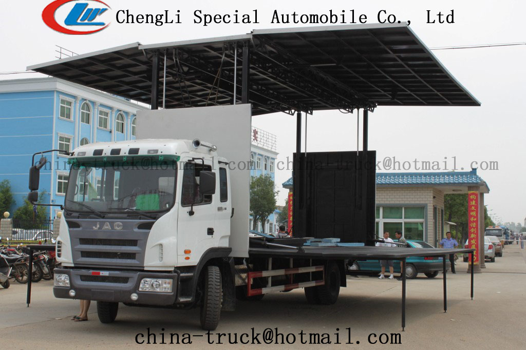 Multi-function stage truck,armored trucks for sale