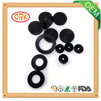 Black good elongation silicone rubber gasket for pipe