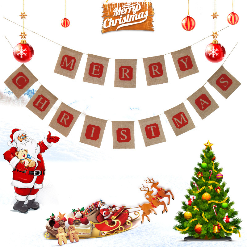 hanging merry christmas - Cheap Christmas Decorations Online