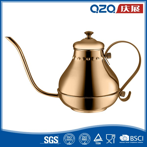 Hand Drip Mocha Arabic Champaign Gold Color Coffee Pot 900ml