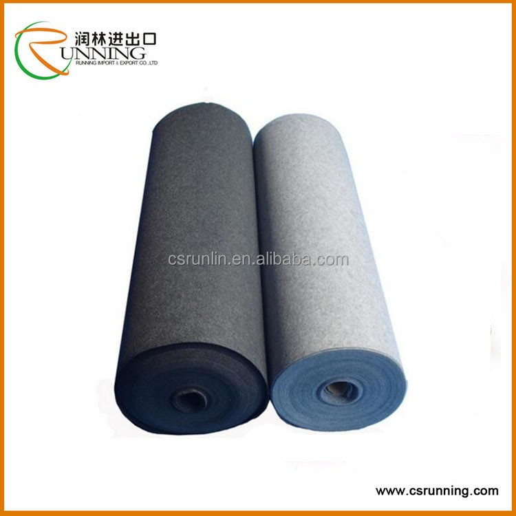 Grey wool pressed nonwoven felt,customized thickness wool felt