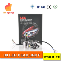 H3 LED High Power 12V LED Projector Lens Headlight LED Headlight for Toyota Avanza