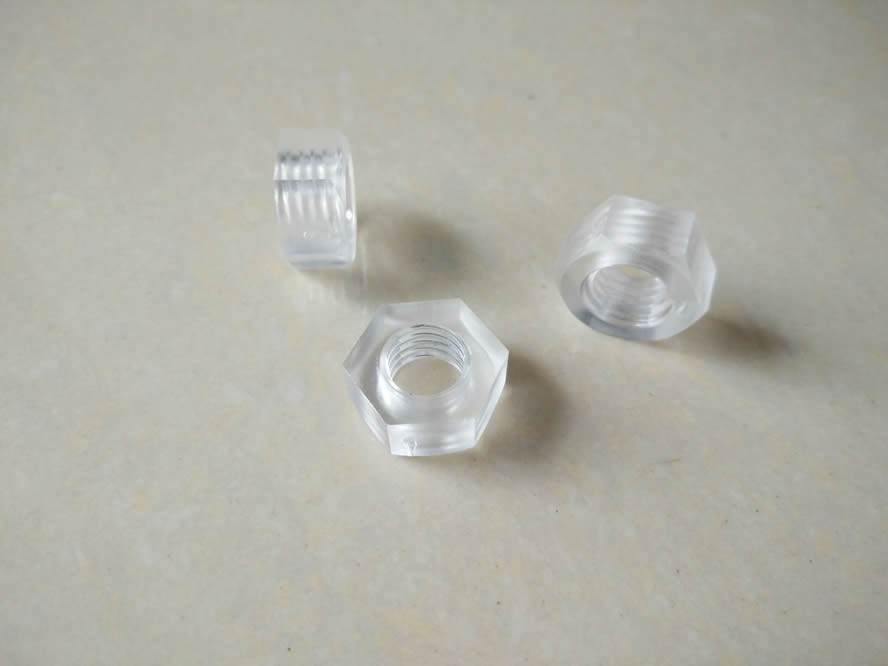 plastic screw and nut, plastic bolt and nut, pc bolt and nut PC material Threads M3 M4 M5 M6 Standard Clear screws Plastic