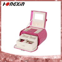handbag shaped leather custom hinge velvet inserts lock mirror gift packaging ring jewelry box from manufacturers china
