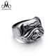 Lovely Doggy Design Unisex Ring Jewelry Stainless Steel Accessories