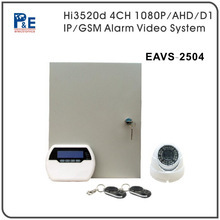 New H.264 4CH network dvr security alarm multiple channel GSM/TCP/IP camera alarm dvr system