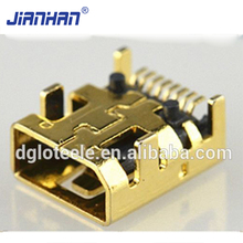 Alibaba Wholesale Electrical Wire Plug 8 Pin Female Mini USB Connector