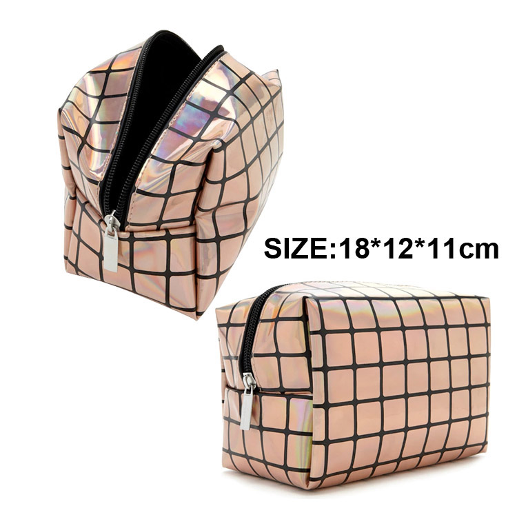 Smooth Surface Waterproof Foldable Travel Makeup Set Toiletry Bag Cosmetic Wash Bag
