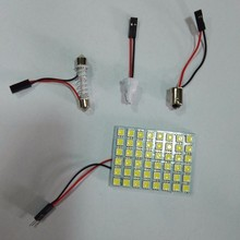 China led car interior dome reading light PCB 5050 48smd Automobile rectangle roof light with t10/ba9s/festoon