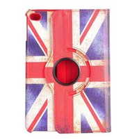 Wholesale Universal Mini UK Flag Rotating Flip Protective Leather Tablet Case For iPad Mini 3