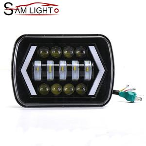7'' Square led headlight 5x7 projector headlights